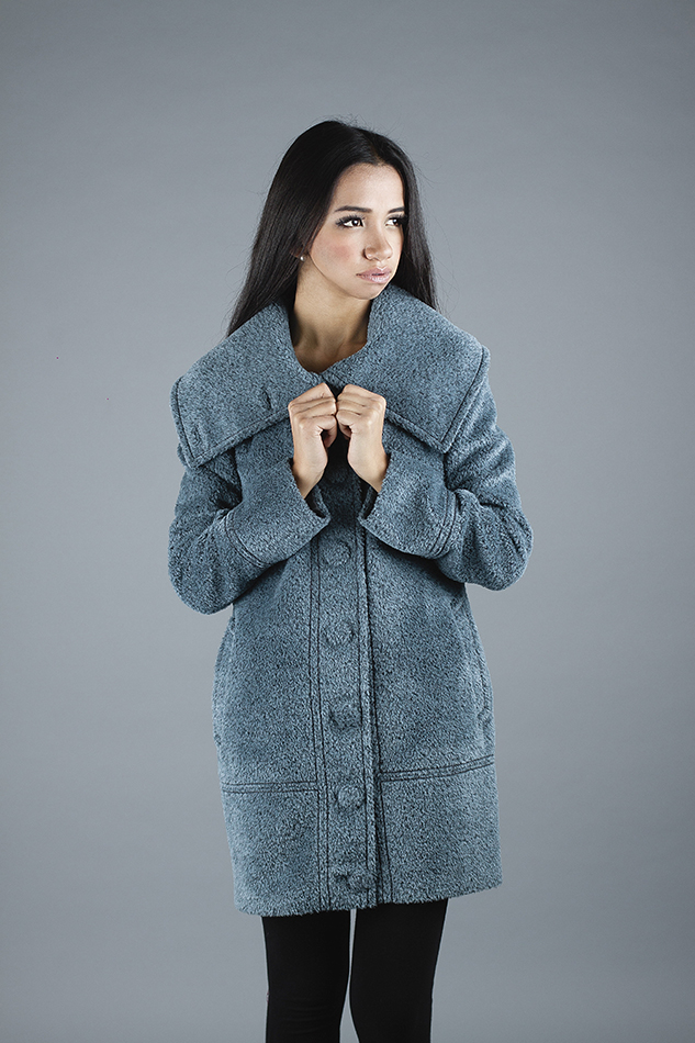 Naty Coat in Bucle <br> Code: MB-NA