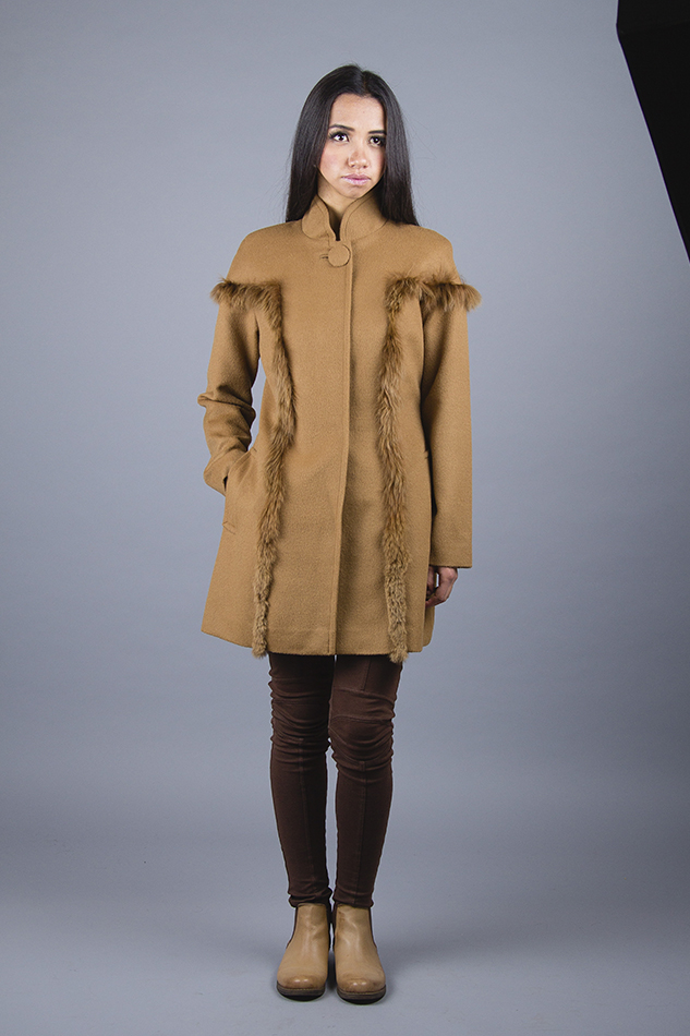 Sila Coat with Fur <br> Code: MA-SI